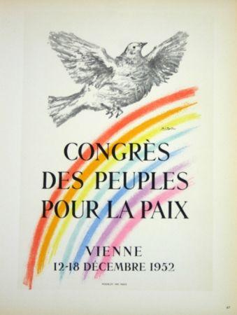 Litografia Picasso - Congrés des Peuples pour la Paix  1952