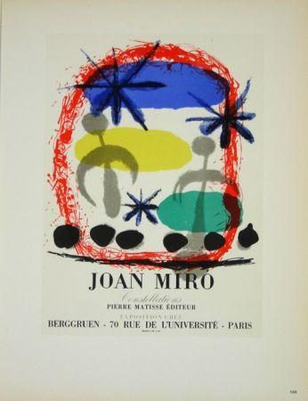 Litografia Miró - Constellation Galerie Berggruen
