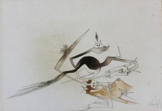 Acquaforte E Acquatinta Lam - Contre une maison sèche