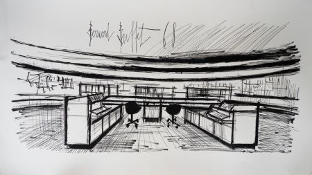 Litografia Buffet - Control Room, Siemens,