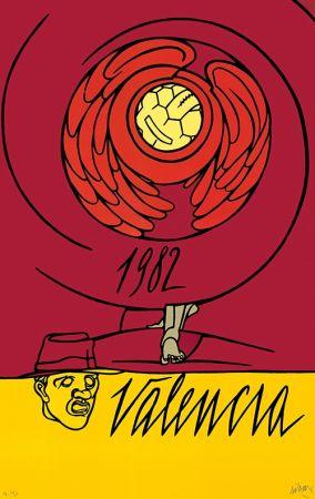Litografia Adami - Copa del Mundo de Fútbol España 1982 - Valencia