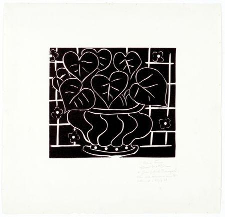 Linoincisione Matisse - Corbeille de bégonias I