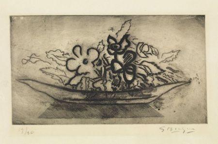 Acquatinta Braque - Corbeille de fleurs