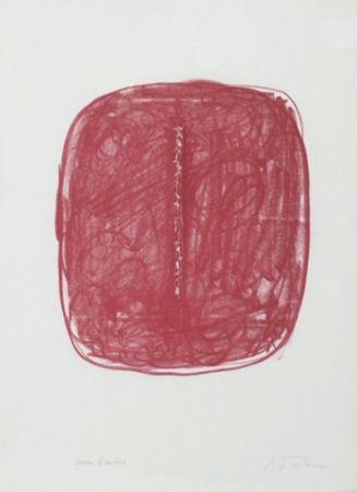 Litografia Fontana - Corrente (Rosso)