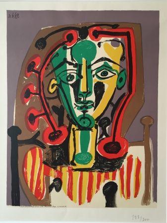 Litografia Picasso - Corsage Raye