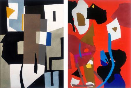 Pochoir Lanskoy - CORTÈGE. Pochoirs originaux n° 14 et 15 (1959)