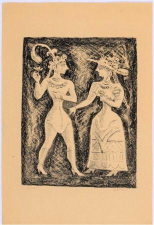 Litografia Campigli - Costumi Cretesi