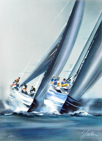 Litografia Spahn - Coupe de l'America - Valence