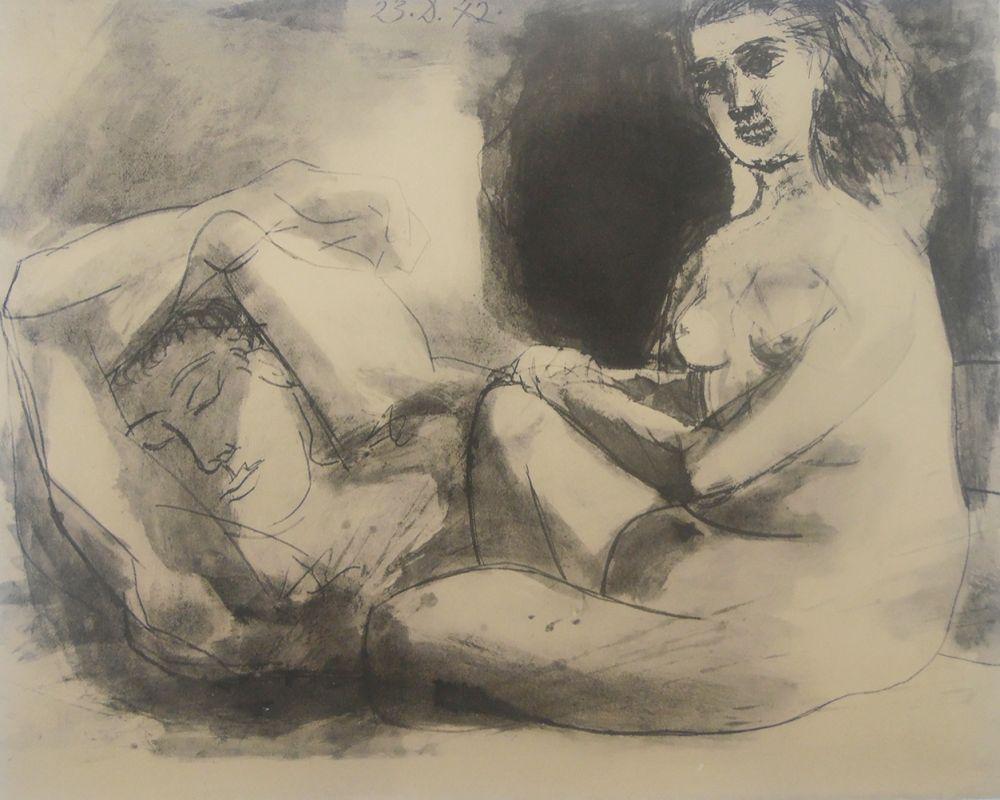 Litografia Picasso - Couple