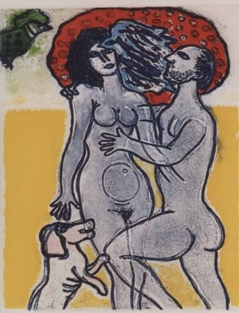 Acquatinta Corneille - Couple de l'ete