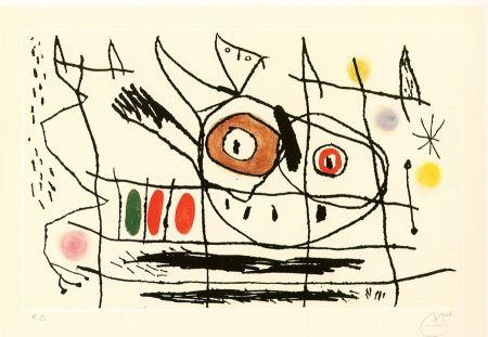 Acquaforte E Acquatinta Miró - Couple d'oiseaux