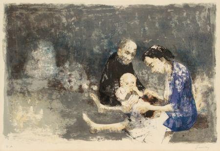 Litografia Jansem - Couple with baby
