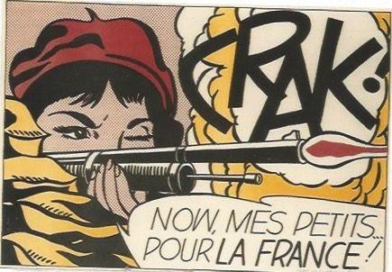 Litografia Lichtenstein - CRAK! Now mes Petits ... pour la France!