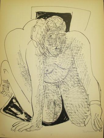 Litografia Beckmann - Crawling Woman