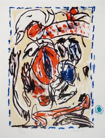 Litografia Alechinsky - Crayon sur coquille - Cerclitude