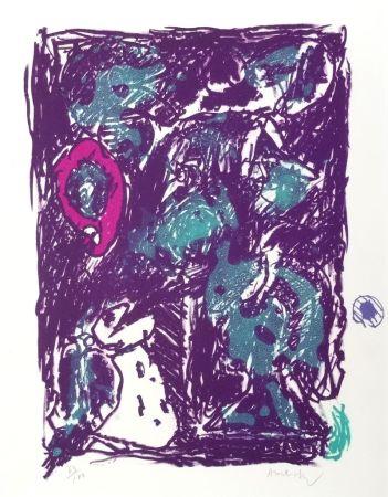 Litografia Alechinsky - Crayon sur coquille - Le rare heureux