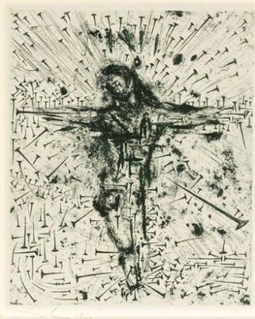 Acquaforte Dali - Crucifixion, from Apocalypse de Saint Jean