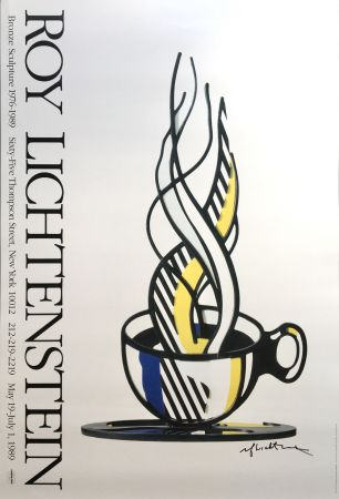 Non Tecnico Lichtenstein - Cup and Saucer II (Hand Signed)