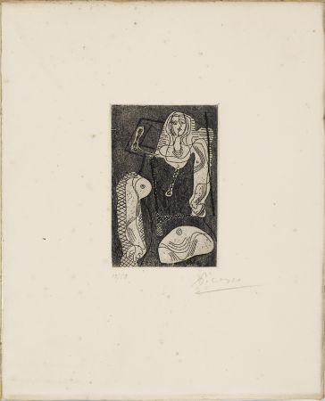 Acquaforte Picasso - C.Zervos. PICASSO ŒUVRES 1920-1926. Cahiers d'Art », 1926. 1/50 avec l'eau-forte originale signée.