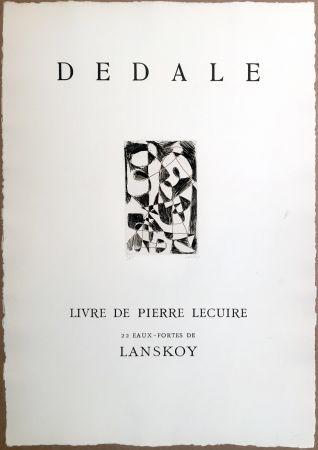 Incisione Lanskoy - DÉDALE. Affiche originale gravée. Livre de Pierre Lecuire (1960)