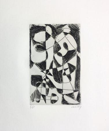 Acquaforte Lanskoy - DÉDALE. Gravure pour l'affiche de Pierre Lecuire (1960)