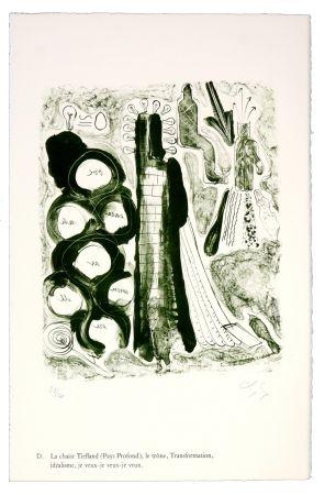 Litografia Nørgaard - D. La chaise Tiefland (Pays profond), le trône, Transformation, idéalisme, je veux-je veux-je veux