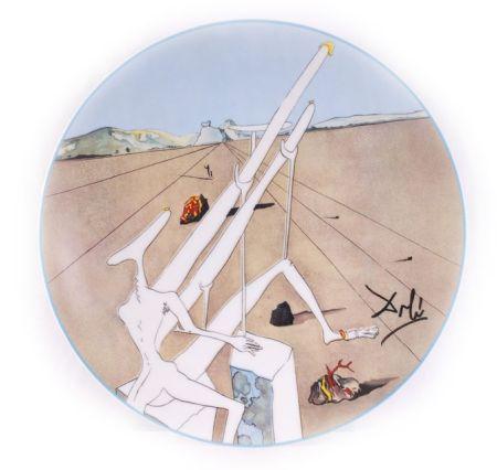 Ceramica Dali - Dali Martien muni d'un double microscope Holo-électrique (La Conquête du Cosmos)
