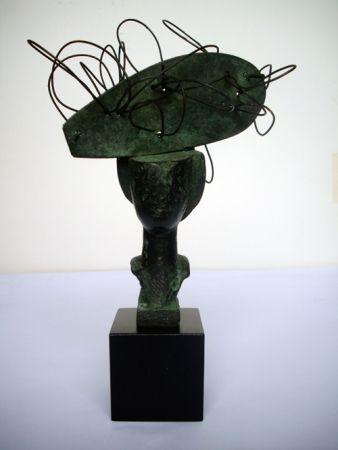 Monotipo Valdés - Dame en bronze