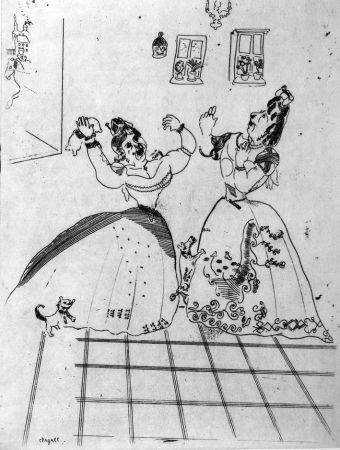 Acquaforte Chagall - Dames Charmantes Et Charmantes À Tous Égards