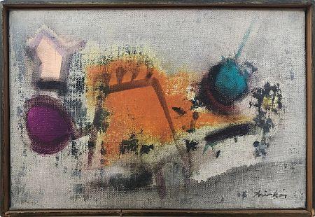 Non Tecnico Anonyme - Dans le goût de J. FAUTRIER  Composition abstraite (c. 1950)