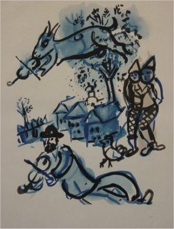 Pochoir Chagall - Dans le Village