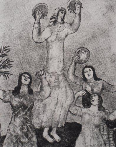 Acquaforte Chagall - Danse de Marie, Soeur de Moise
