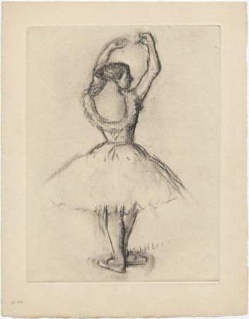 Acquaforte Degas - Danseuse (étude, vers 1878-1880)