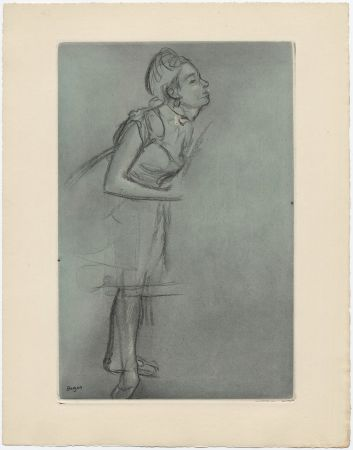 Acquaforte E Acquatinta Degas - Danseuse (étude, vers 1878)