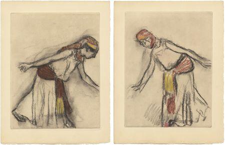 Acquaforte E Acquatinta Degas - Danseuse orientale : 2 études (vers 1890)