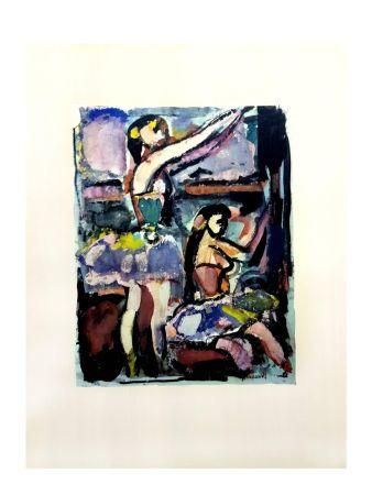 Litografia Rouault - Danseuses