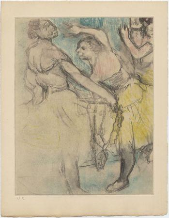 Acquaforte E Acquatinta Degas - Danseuses à l'Opéra (étude, vers 1880)