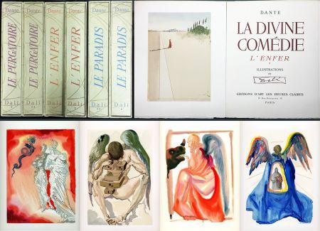 Libro Illustrato Dali - Dante : LA DIVINE COMÉDIE. 6 volumes. 100 planches couleurs. (1959)