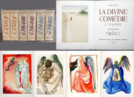 Libro Illustrato Dali - Dante : LA DIVINE COMÉDIE. 6 volumes. 100 planches couleurs et suites de décompositions de couleurs.(1959)