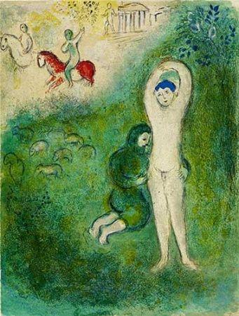 Litografia Chagall - Daphnis et Gnathon