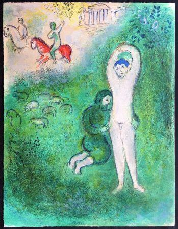 Litografia Chagall - DAPHNIS ET GNATHON (de la Suite Daphnis & Chloé - 1961)