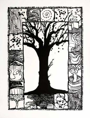 Litografia Alechinsky - D'arbre et d'encre