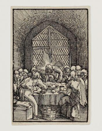 Incisione Su Legno Altdorfer - Das letzte Abendmahl (The last Supper)