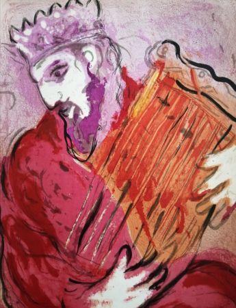 Litografia Chagall - David