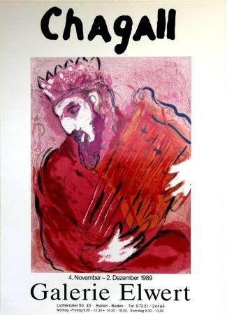 Offset Chagall - David à la Harpe  Galerie Elwert