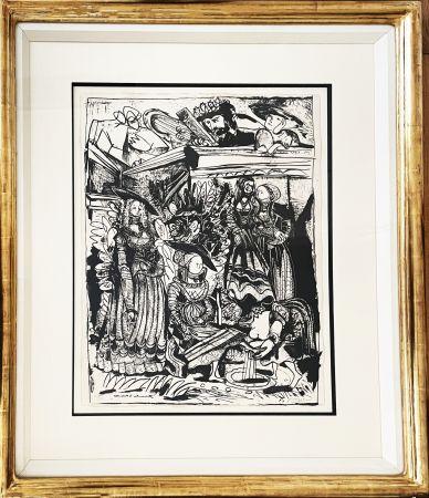 Litografia Picasso - David and Bathsheba (After Lucas Cranach)