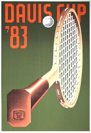 Litografia Klapheck - '' Davis CUp 83 ''