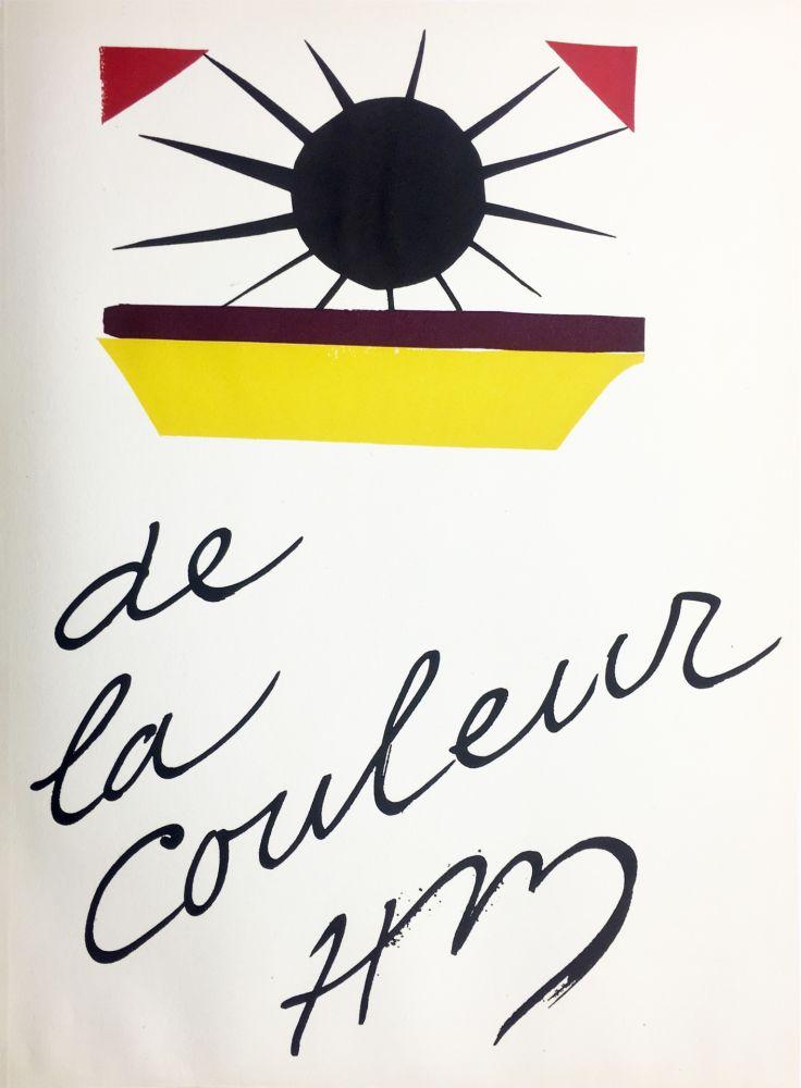Litografia Matisse - DE LA COULEUR  (Pour la revue Verve n°13, 1945)