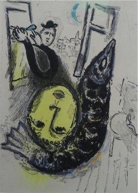 Acquaforte E Acquatinta Chagall - De Mauvais Sujets,plate nr.3