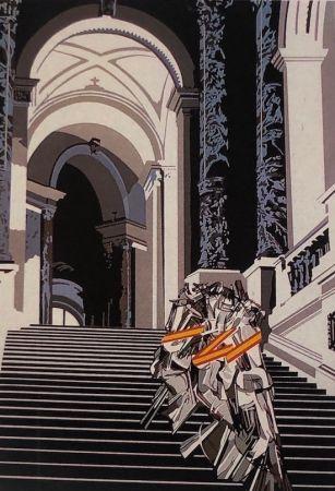 Serigrafia Equipo Cronica - Denudo bajando la escalera (carpeta composiciones)